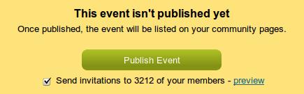 Unpublished event announce en