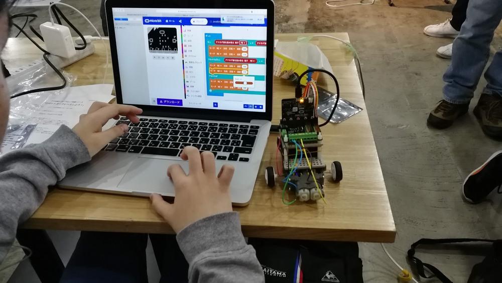 ひろ自連のプログラミング体験シリーズ「ぶつからないロボットカーをつくろう!」