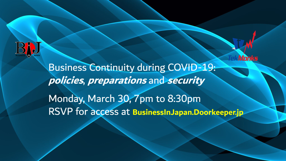 WEBINAR: Business Continuity during COVID-19 - policies, preparations and security