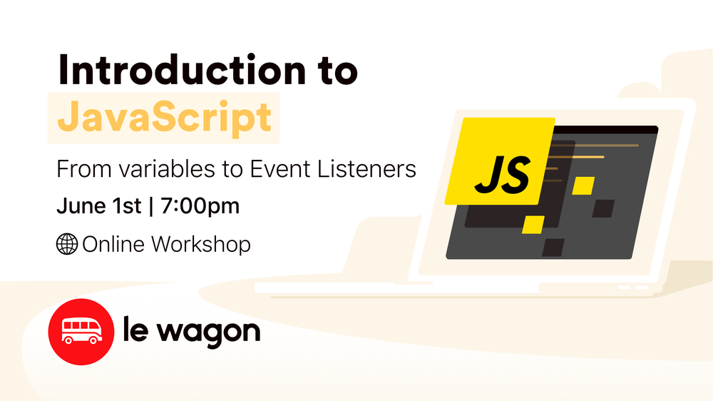 #CodeFromHome: Introduction to JavaScript - Online Workshop