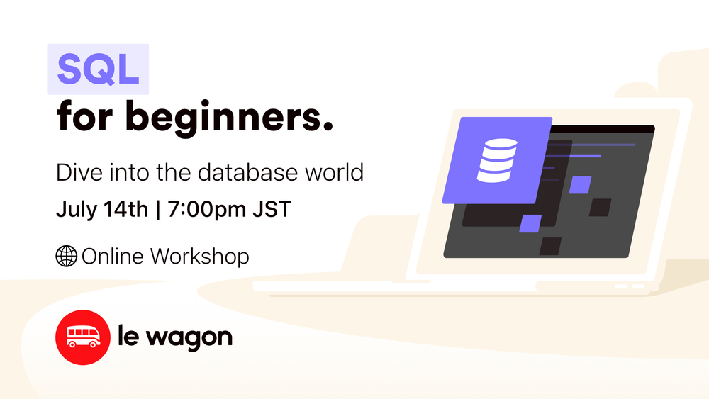#CodeFromHome: SQL for Beginners - Online Workshop