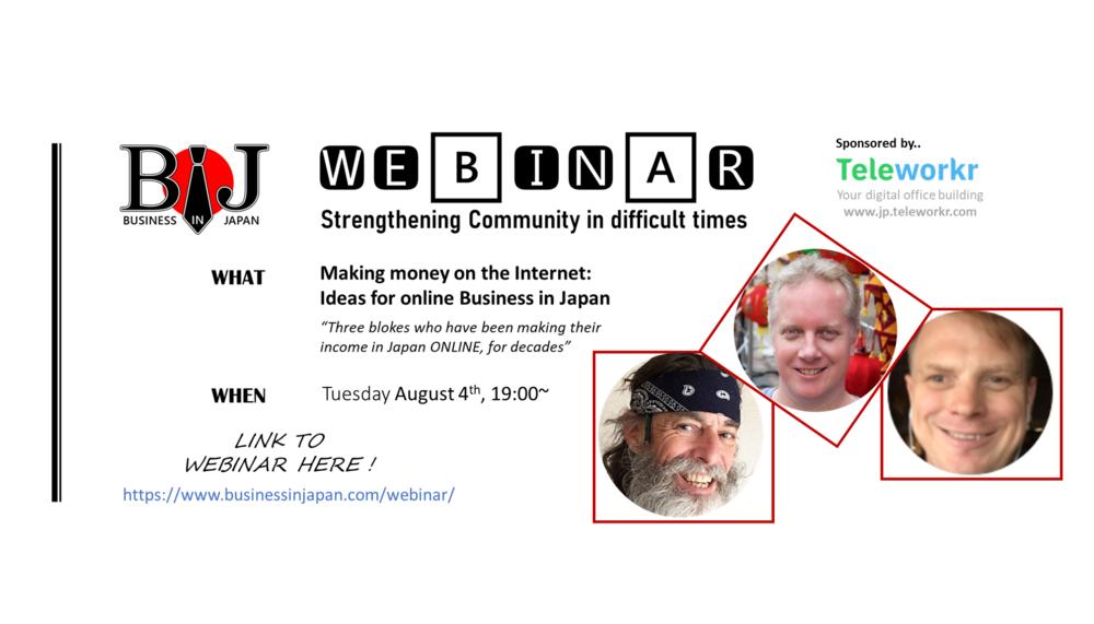 [BIJ Webinar] Making money on the Internet: Ideas for online Business in Japan