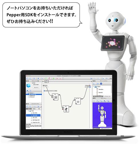 [4/27]Pepper 開発 ワークショップ初級 (1/2) 19:00 - 19:55