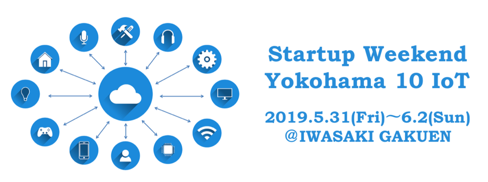 【参加者多数のため増枠!!】【3日間で起業体験】Startup Weekend Yokohama 10 IoT (20190531-0602)