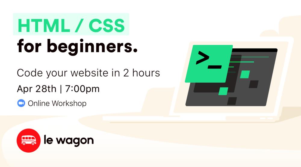 Build a Landing Page in 2 hours! - Online Workshop